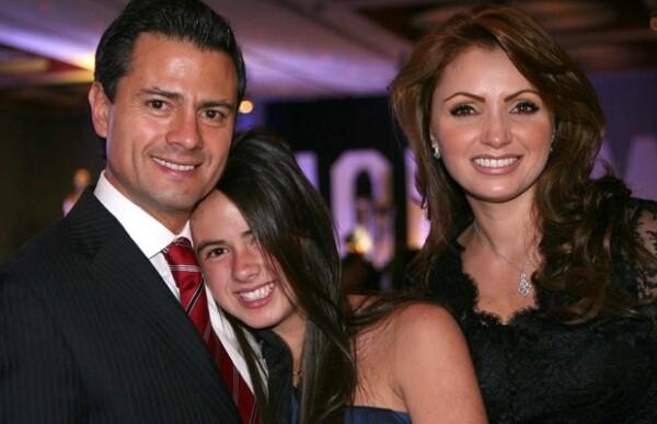 Nicole es la hija menor de Enrique Peña y Mónica Pretelini.