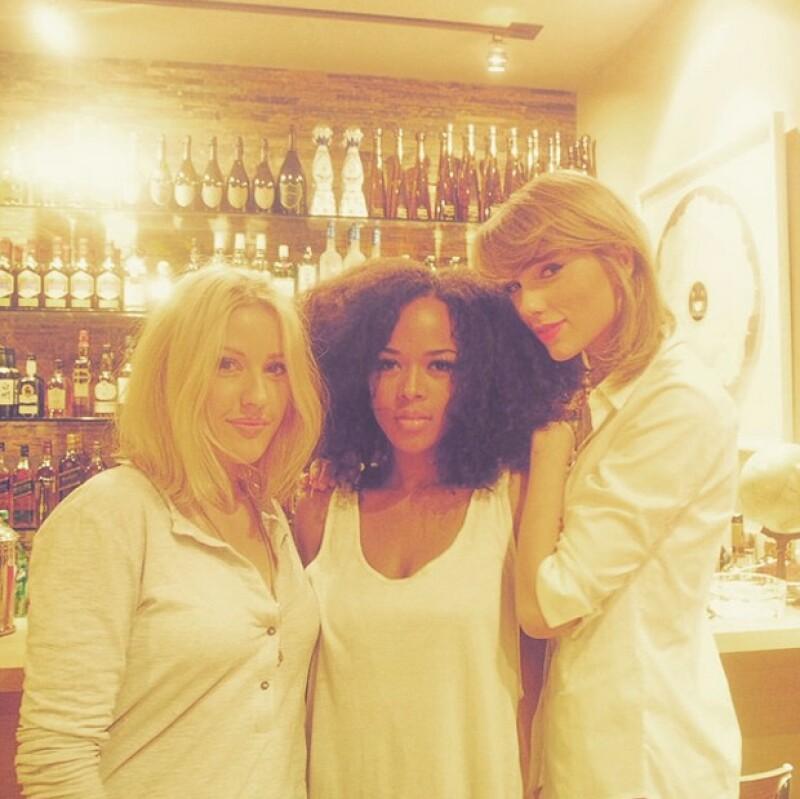 Ellie Goulding agradeció a Calvin Harris su invitación a la tarde de barbecue y compartió esta foto junto con Taylor y Serayah.