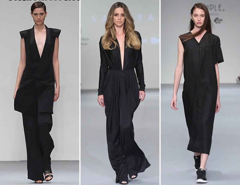 El negro es uno de los colores más recurrentes en las colecciones SS16.