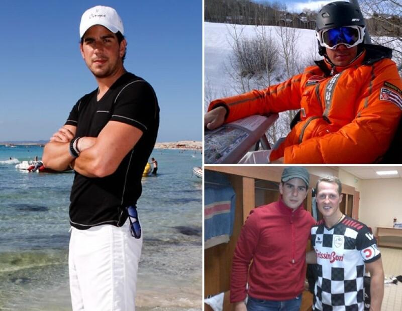 Alejandro Valladares practica los deportes extremos acuáticos.
