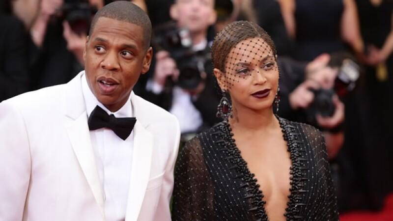 Beyoncé y Jay Z durante su arribo al evento del Met Gala en el Museo de Arte Metropolitano en Nueva York
