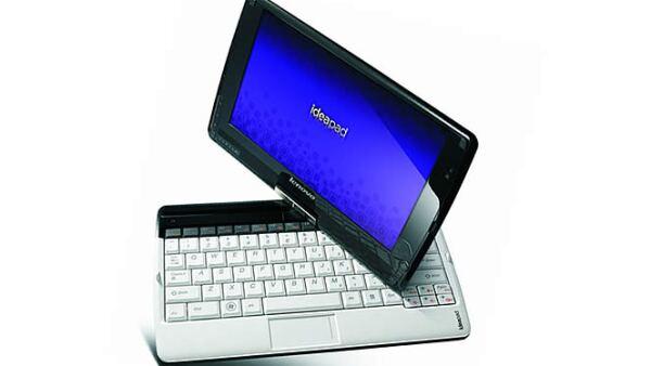 La empresa fabricante de computadoras, Lenovo, comercializará en los próximos meses una netbook con pantalla táctil capaz de usarse con o sin el teclado.