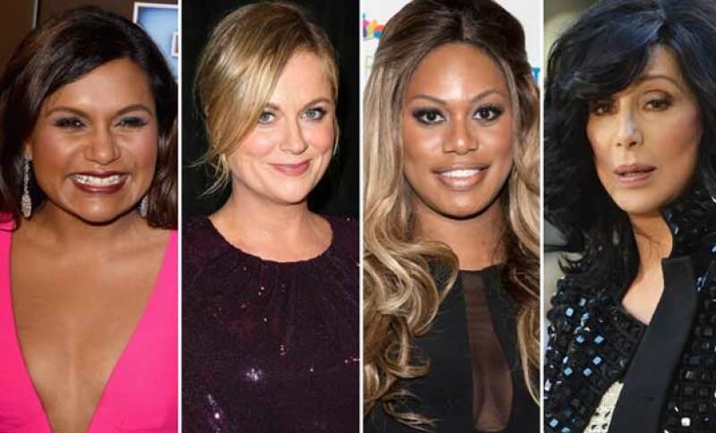Mindy Kaling, Amy Poehler, Laverne Cox y Cher también aparecen en el listado.