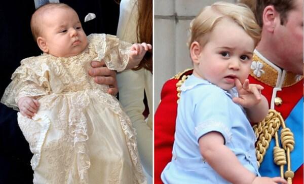 El pequeño príncipe George tiene apenas dos años.