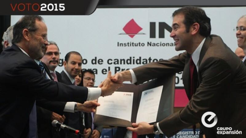 registro de los candidatos del PAN ante el INE