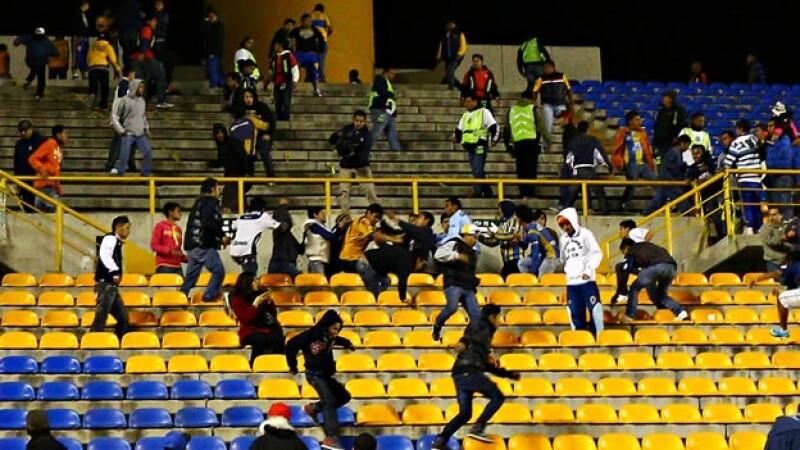 violencia aficionados San Luis Tigres