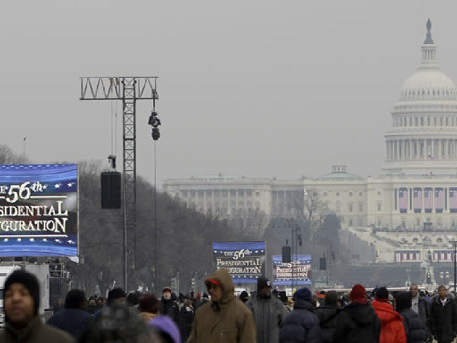 Durante el fin de semana se realizaron fiestas, conciertos, espectáculos y seminarios en el marco de la asunción de Obama y este martes se realizarán varios más.