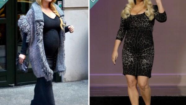 La empresaria y cantante aseguró en entrevista con Jay Leno que en esta ocasión sí cuidará de su peso, a diferencia de su primer embarazo.