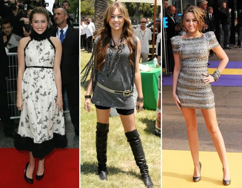 Poco después, Miley dejó el look aniñado y lo cambió por el de una `teen´.