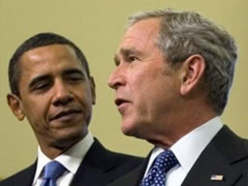 Barack Obama y George W. Bush afinan detalles para concluir el traspaso de gobierno. (Foto: AP)