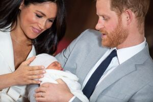 Meghan Markle, príncipe Harry y Archie Harris
