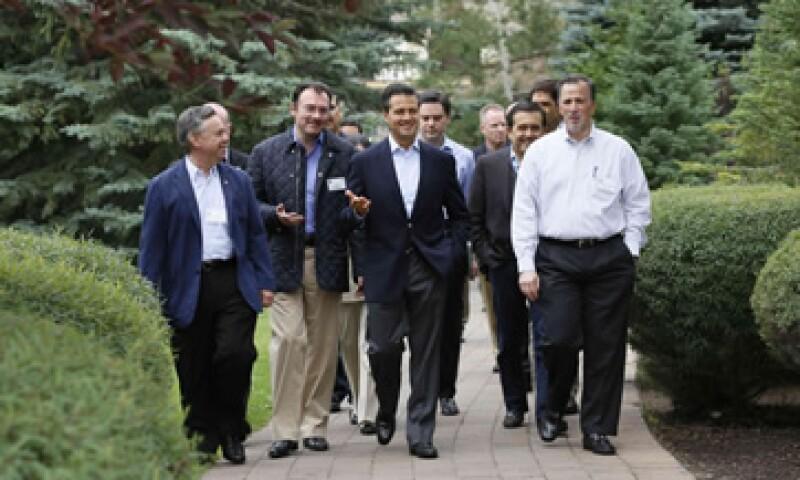 A su llegada a Sun Valley, el presidente Enrique Peña Nieto se reunió con empresarios mexicanos. (Foto: Reuters)