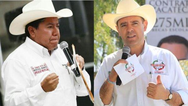 David Monreal y Alejandro Tello se disputan la gubernatura de Zacatecas.