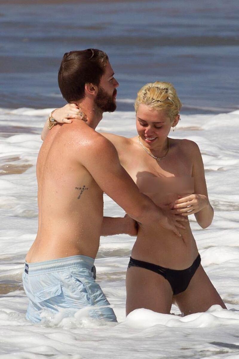 Tanto Patrick como Miley se veían muy enamorados.