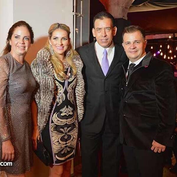 Claudia de Richter,Vanessa de Moreira,Humberto Moreira y Ulrich Richter.