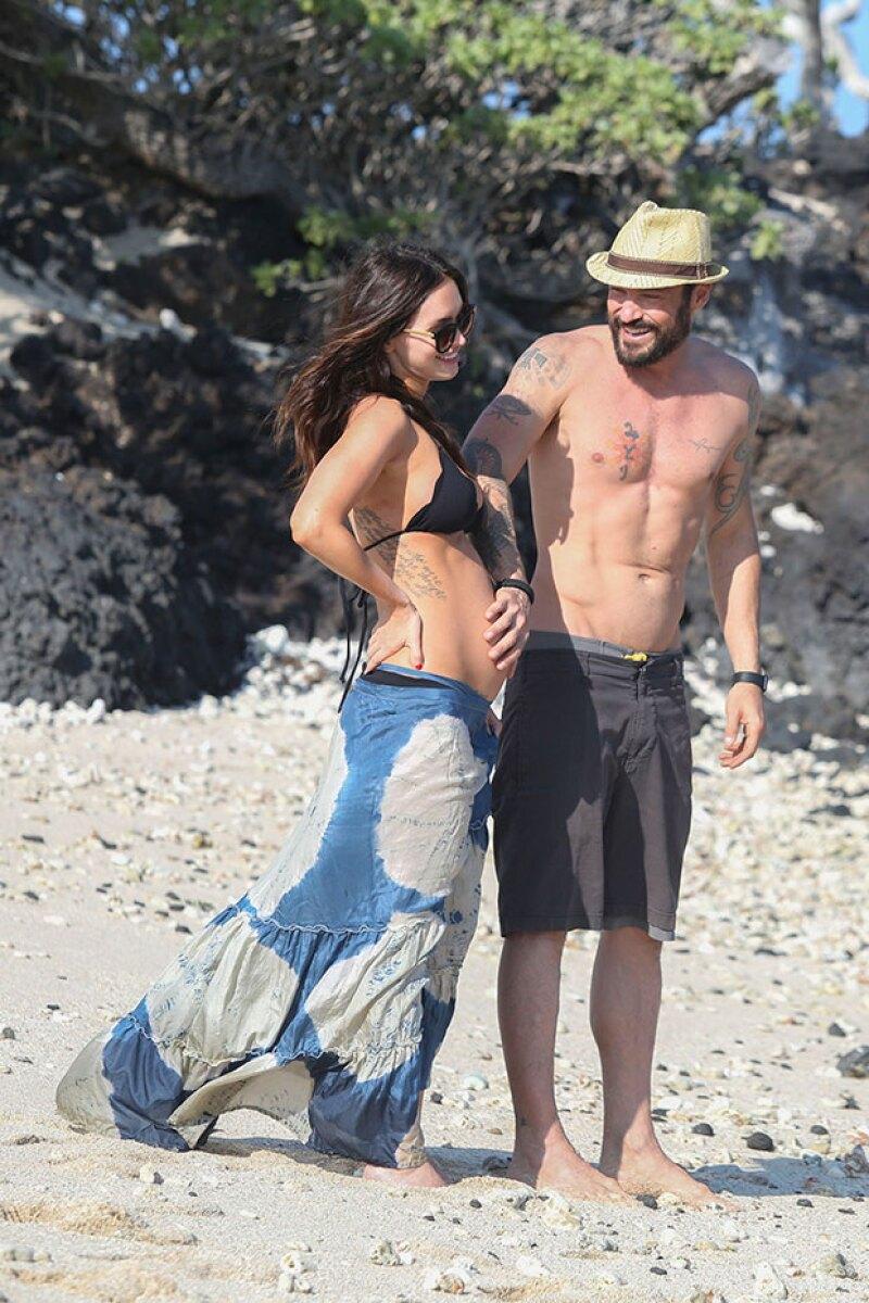 Sobre su embarazo, Megan no ha dicho nada, pero Brian aseguró ser el padre del bebé.
