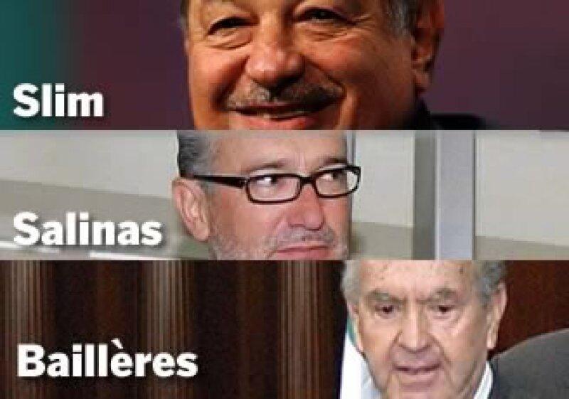 Carlos Slim Helú y Ricardo Salinas Pliego son los dos hombres más acaudalados del país. (Foto: Jorge Rodríguez)