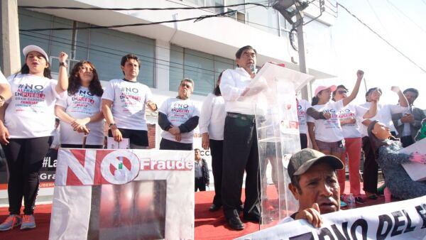 Protesta en Puebla