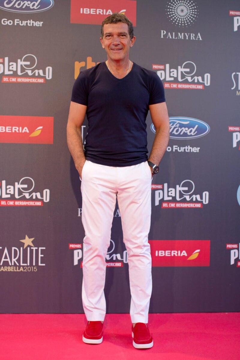 El actor, director y productor malagueño, de 54 años, habló durante un encuentro con la prensa en Marbella con motivo del Platino de Honor que recibirá en la gala de la premiación.