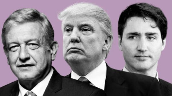 Andr�s Manuel L�pez Obrador, Trump, Trudeau