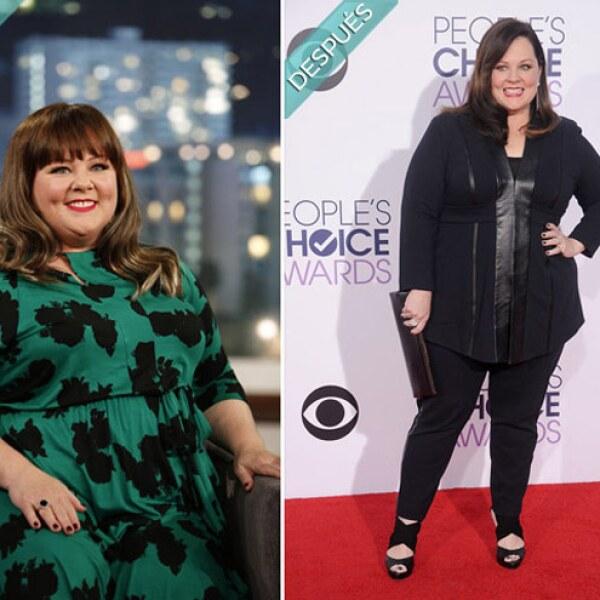 Melissa McCarthy después de bajar notoriamente de peso recientemente.