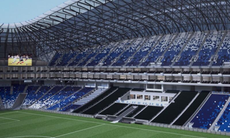 Así se verá al interior el nuevo estadio una vez concluido. (Foto: Cortesía FEMSA )
