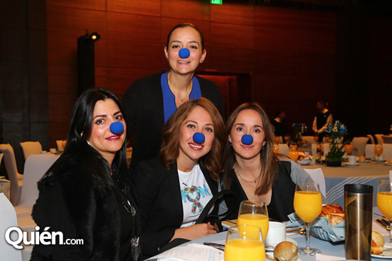 Isabel Guzmán,Karla Abundes,Gabriela Madrigal y Crisanta Escalante