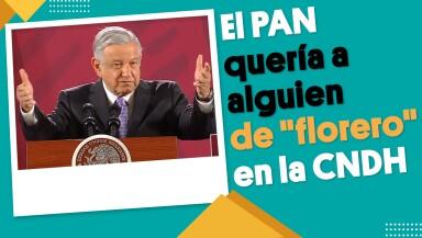 """El PAN quería a alguien de """"florero"""" en la CNDH: AMLO   #EnSegundos"""
