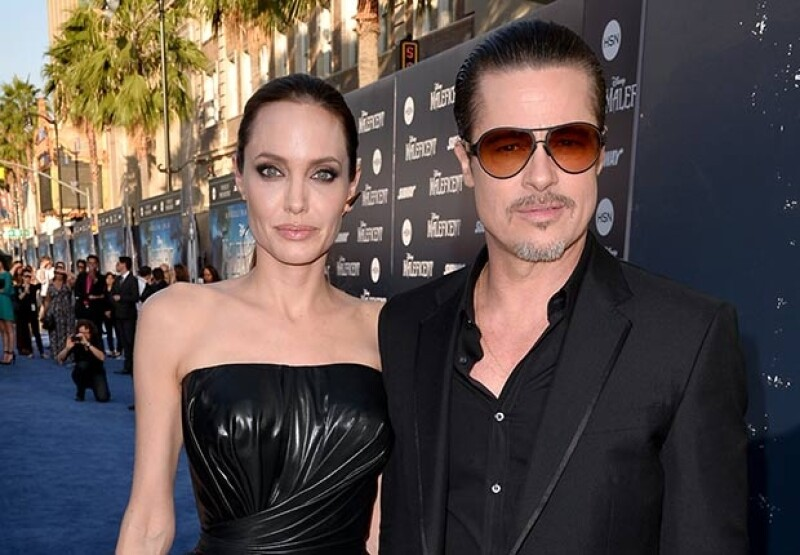 El actor acompañó a su esposa en el estreno de Maléfica en Hollywood.