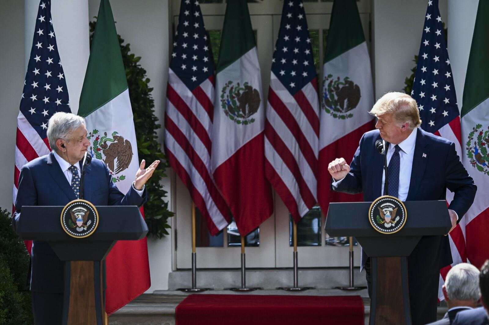 Trump hosts talks with Mexican counterpart Lopez Obrador