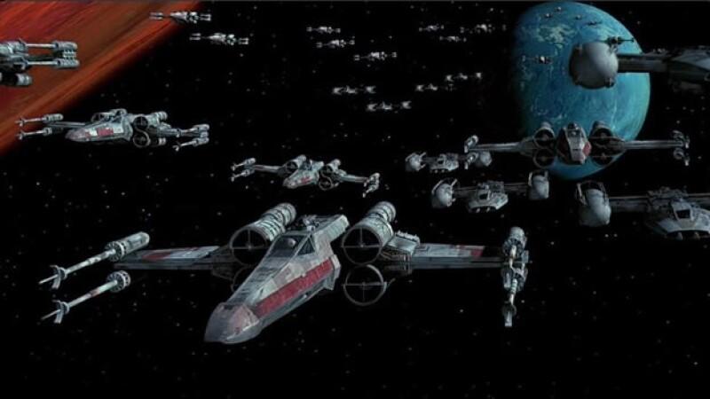 Aeronaves X-wing de los rebeldes del universo de ?Star Wars?