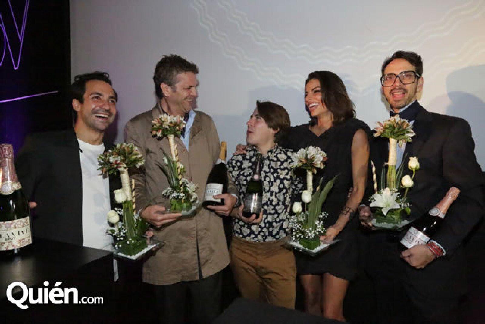 Alejandro Carlín, Mauricio Olvera, Carlos Ortega, Bárbara Coppel y Macario Jiménez