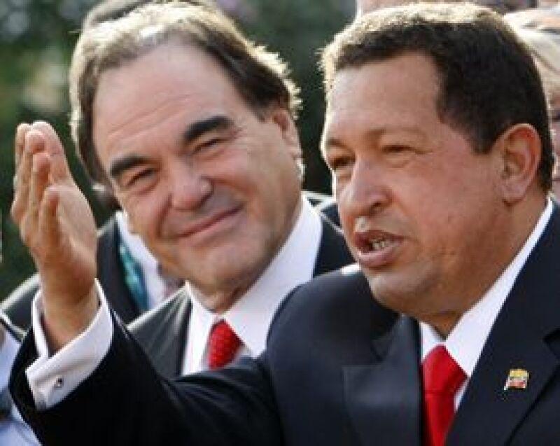 El actor, acompañado por el presidente boliviano Evo Morales, presentó su documental Al sur de la frontera en Nueva York, en coincidencia con la Asamblea General de las Naciones Unidas.