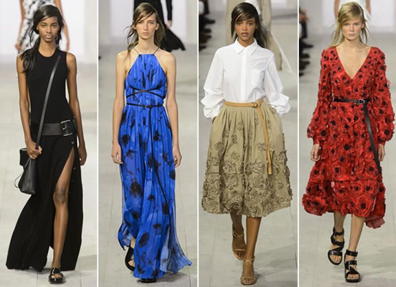 La colección fue una mezcla de colores y cortes clásicos, y una mezcla de looks andróginos con estilos femeninos.