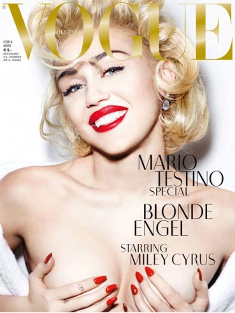 La cantante emuló a la icónica Marilyn Monroe.