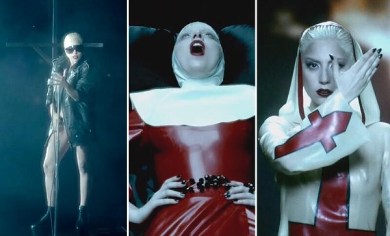 Lady Gaga en `Alejandro´combinó la religión con contenido sexual, tal como Madonna se atrevió a romper esquemas en su mejor momento como cantante.