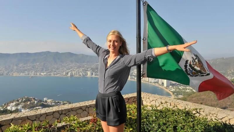 La rusa Maria Sharapova quiere volar en nuestro país con su debut en el Abierto Mexicano de Tenis en Acapulco