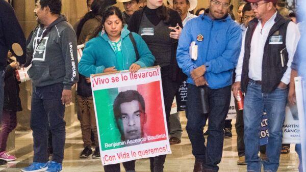 Padres de los desaparecidos de Ayotzinapa