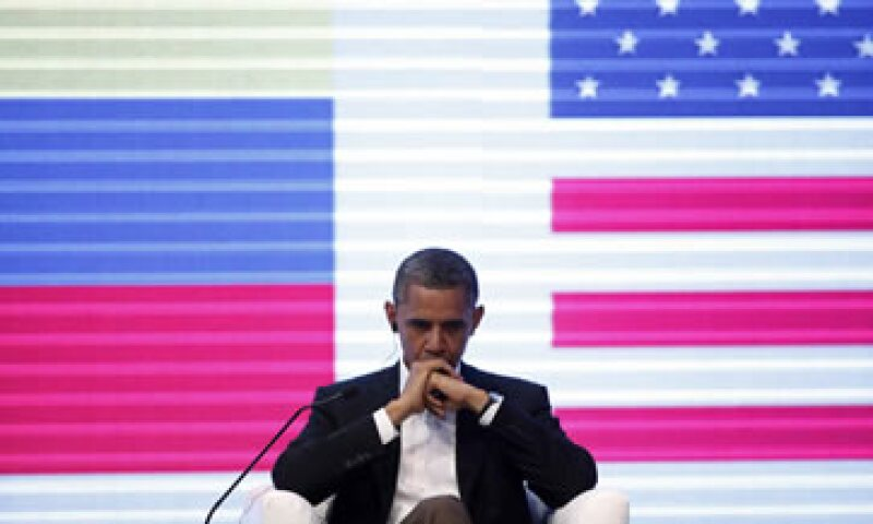 El presidente Barack Obama en el panel con directivos de corporativos en Cartagena, Colombia. (Foto: Reuters)