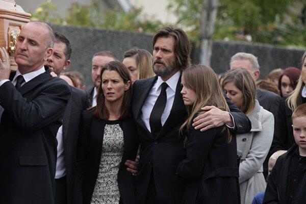 Jim Carrey siempre estuvo acompañado por la familia de Cathriona.