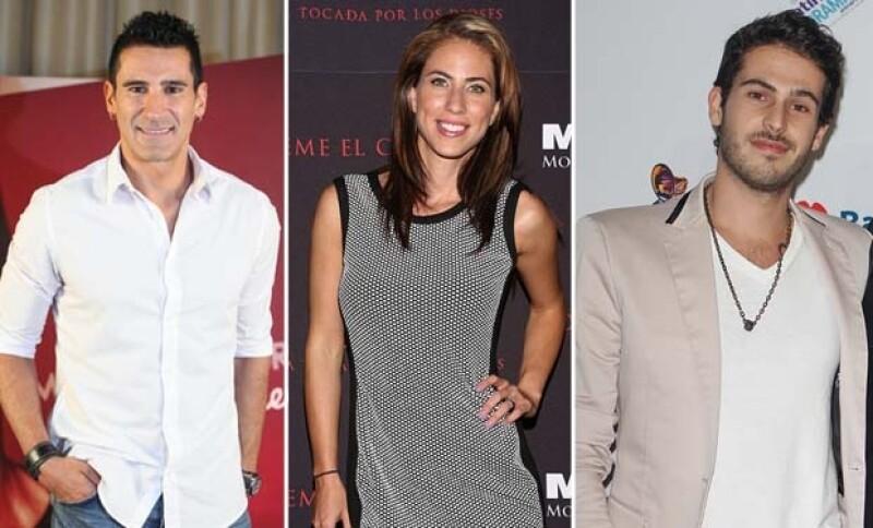El cantante italiano Marco Di Mauro, la actriz de `Niñas mal´ Alejandra Adame y el cantante Jaime Kohen.