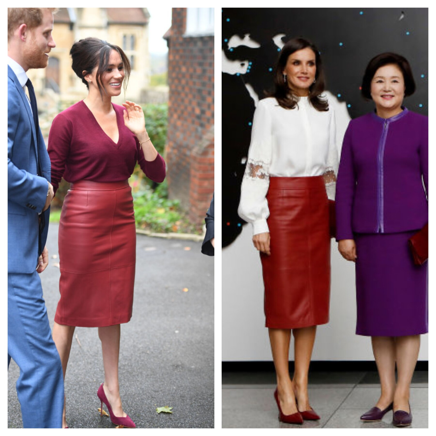 Meghan Markle y la reina Letizia de España