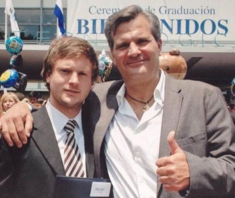 Marcelo Gómez y su papá