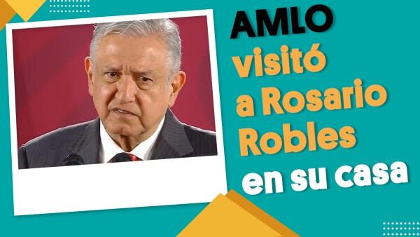 #EnSegundos | AMLO confirma que visitó a Rosario Robles en su casa