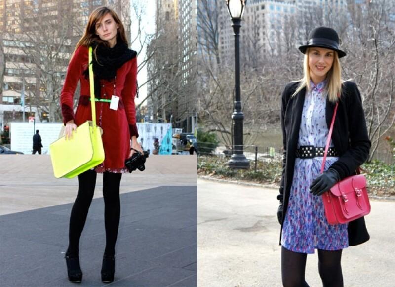 Fashionistas los llevan en la calle durante las presentaciones de Fashion Week.