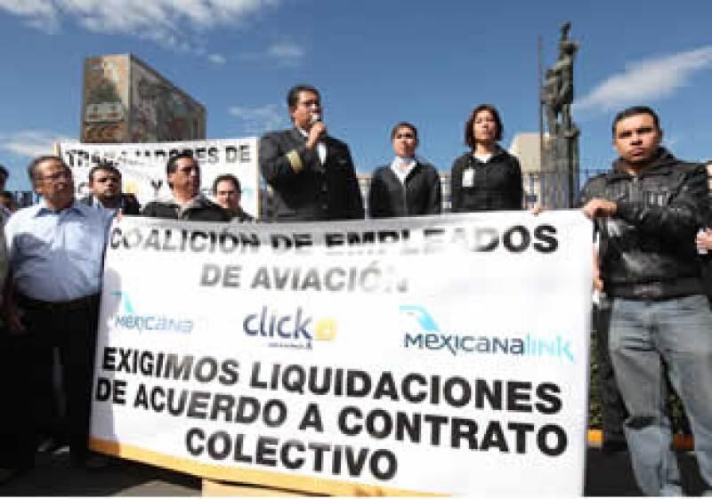 Los trabajadores de Mexicana dijeron que su exigencia es pacífica. (Foto: Notimex)