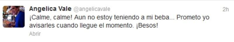 Esto fue lo que tuiteó Angélica.