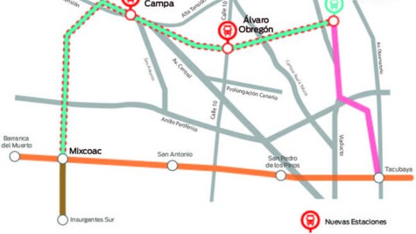linea 12 afectaciones mapa