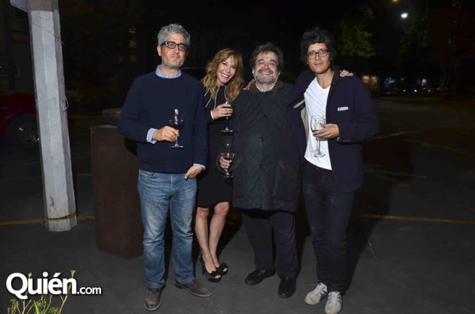 Gabriel López Morton, Edna Ampudia, Gerardo Traeger y Bernardo López Morton