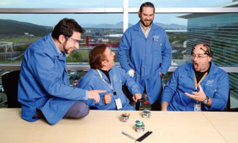 Cuatro investigadores de Intel Labs estudian la interacción con máquinas. (Foto: Carlos Gracián / Expansión)